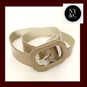 NY&Co Tan Lacquer Leather Belt